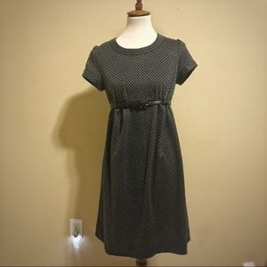 Maternity A Pea in a Pod Black and Grey Dress